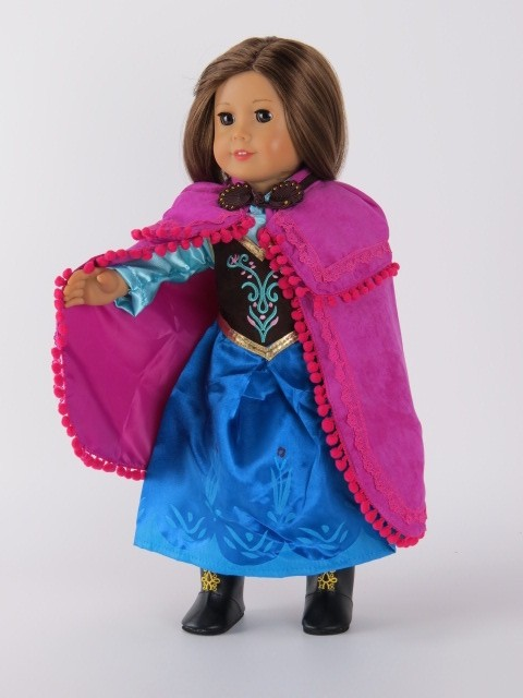 Frozen princess anna gown american girl doll