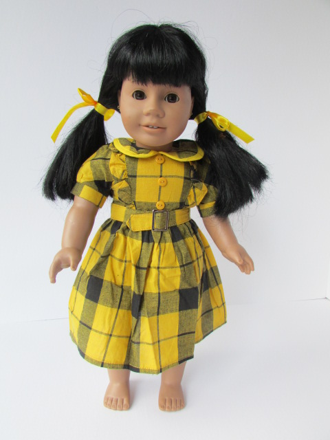 checkered dress set for american girl doll
