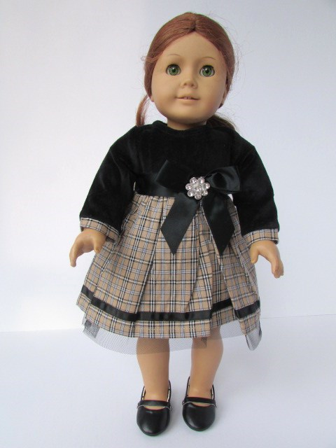 velvet plaid party dress american girl doll
