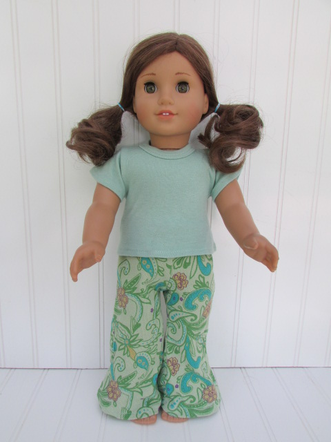 Paisley pants & t-shirt 18 inch doll