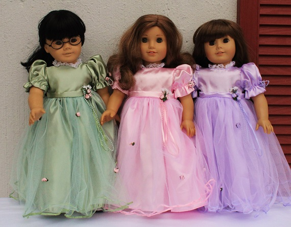 Satin Gowns 18 Inch American Girl Doll The Doll Boutique