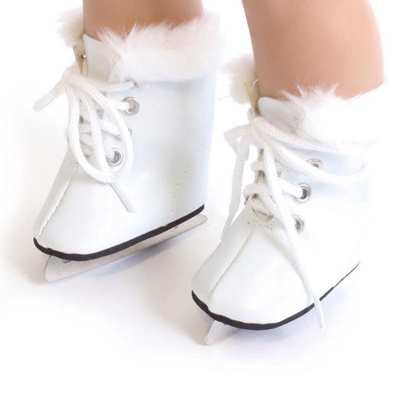 37b725bbfb349 White ice skates fit American Girl dolls