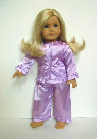 american girl doll satin pajamas (2)