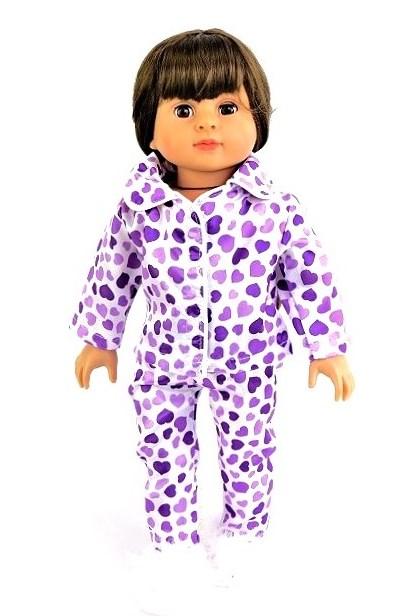 18 Doll Purple Heart Satin Pjs