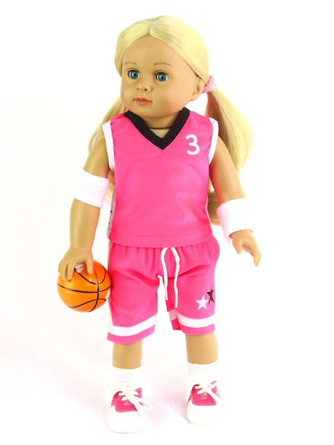 18 inch doll basket ball outfit