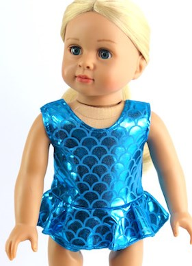 18 inch doll metallic bathing suit