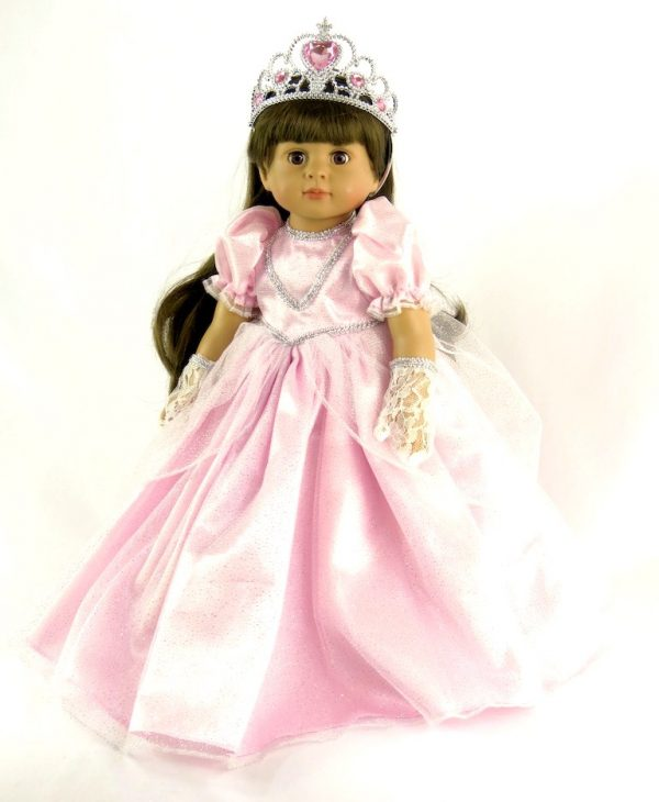 american girl pink princess dress & accessories