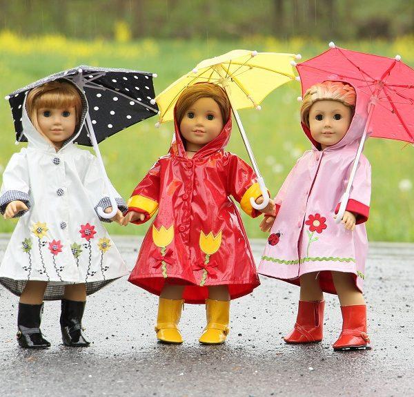 American girl doll hooded raincoats