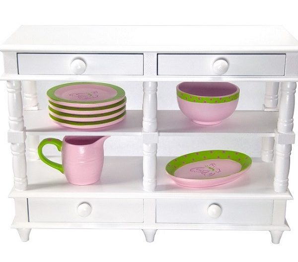18 Doll Sideboard Dishes Lrno H7 1 1