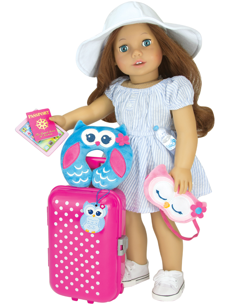 American Girl doll 7 piece travel suitcase & accessory set ...