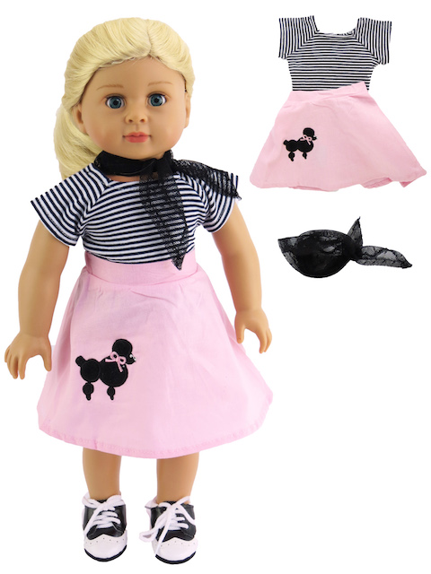 18 Inch American Girl Doll Poodle Outfit Skirt