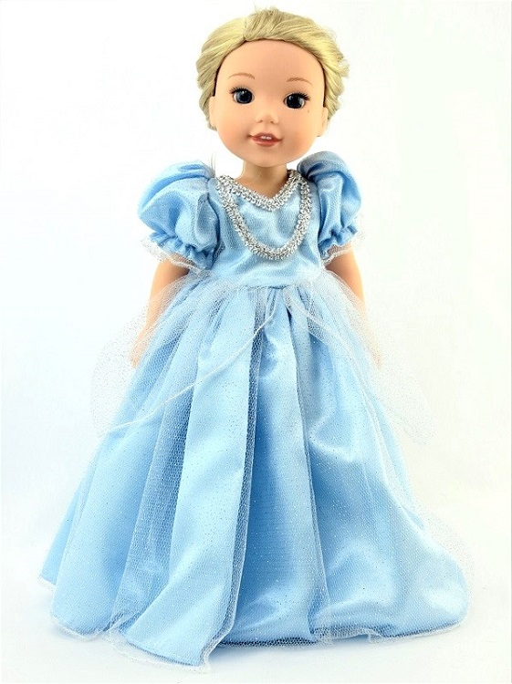 Wellie Wisher doll blue Cinderella gown - The Doll Boutique