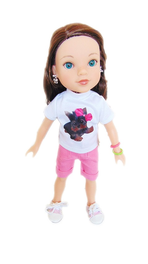 Wellie Wisher Doll Shorts Amp Yorkie T Shirt Outfit The
