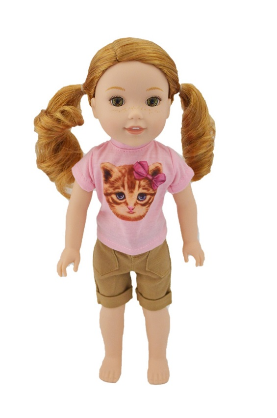 Wellie Wisher Doll Shorts Amp Kitten T Shirt Outfit The