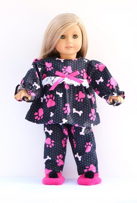 c8dd3db8ad2 18 inch American girl doll pajamas   slippers - The Doll Boutique