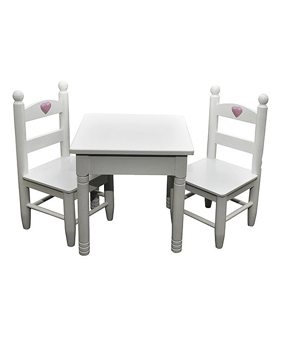 American Girl Doll Furniture White Table Chair Set The Doll Boutique