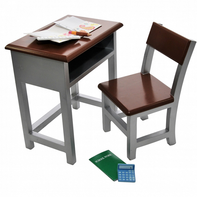 18 Inch Doll Furniture Modern School Desk With Or Without Accessories