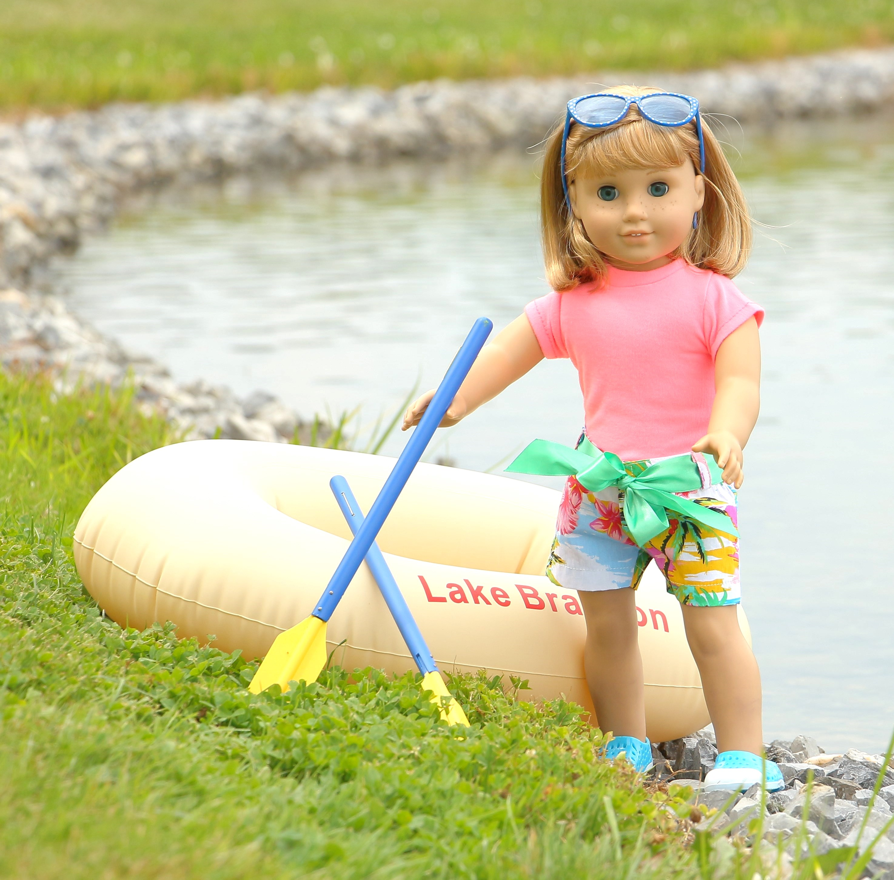 American Girl Doll Inflatable Raft Boat Amp Oars The Doll