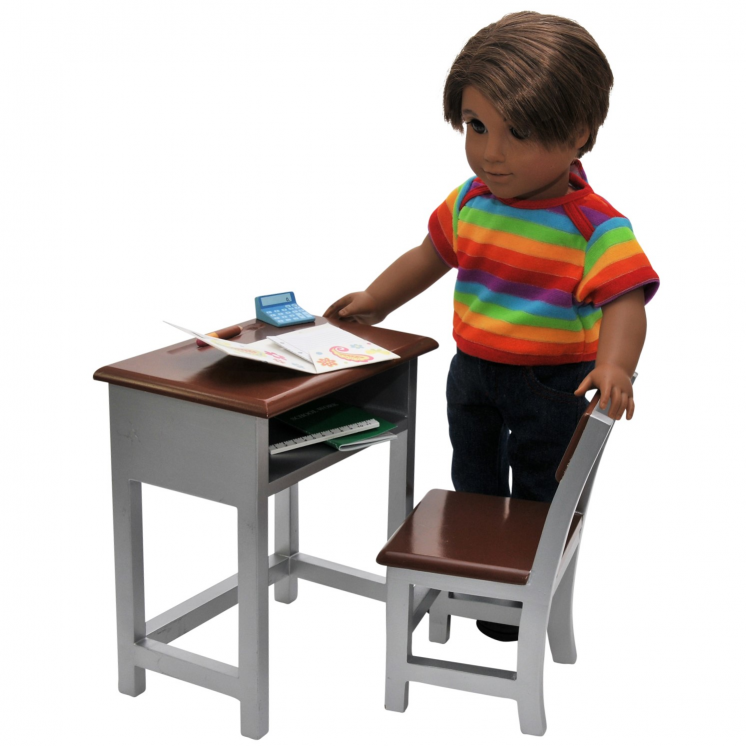 18 Inch Doll Furniture Modern School Desk Accessories The Doll Boutique