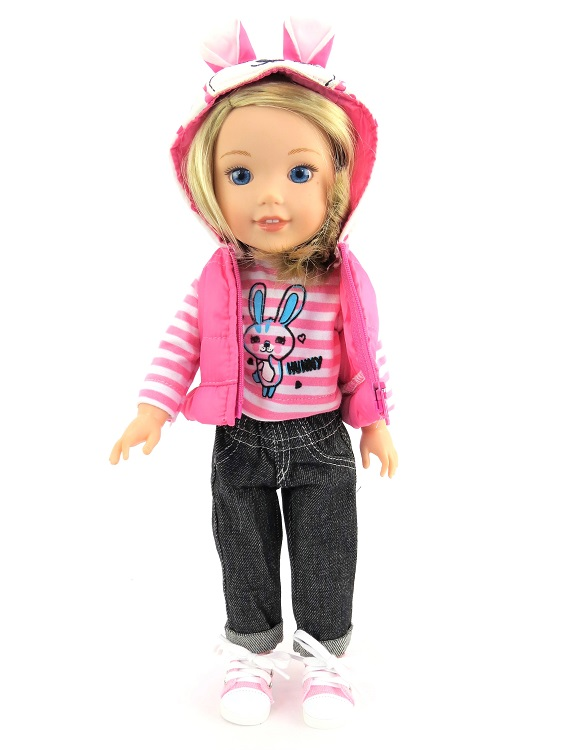 Wellie Wisher 3 Piece Jeans T Shirt Amp Hooded Vest Outfit