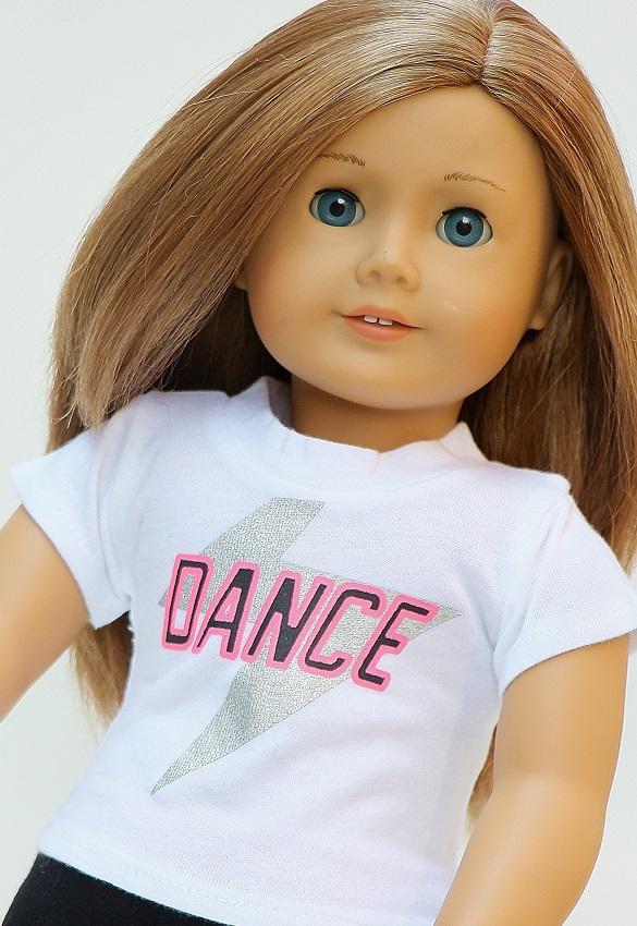 34ac674bf31 18 Inch Doll Dance T-shirt. 18