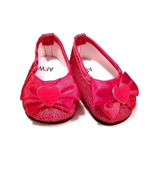 482f1fffbee72 18 Inch Doll Red Glitter Dress Shoes