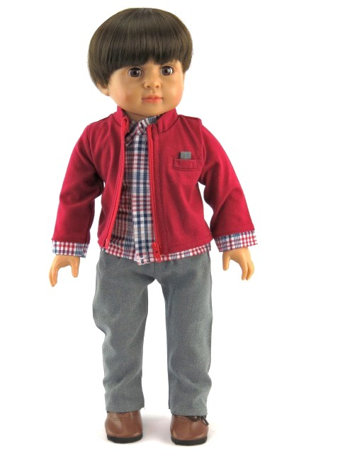 fdcc55e20c6 ... 18 Inch Boy Doll Dress Pants   2-in-1 Shirt Sweater  14.50