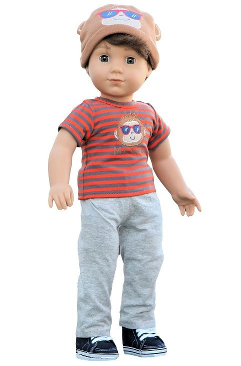 18 Inch Boy Doll Mr Cool Shirt Pants Hat 1
