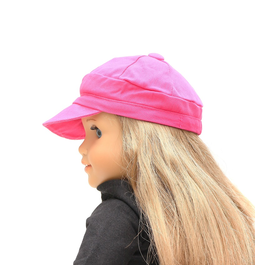 573e38baf9a7 18 Inch Doll Pink Bill Cap - The Doll Boutique