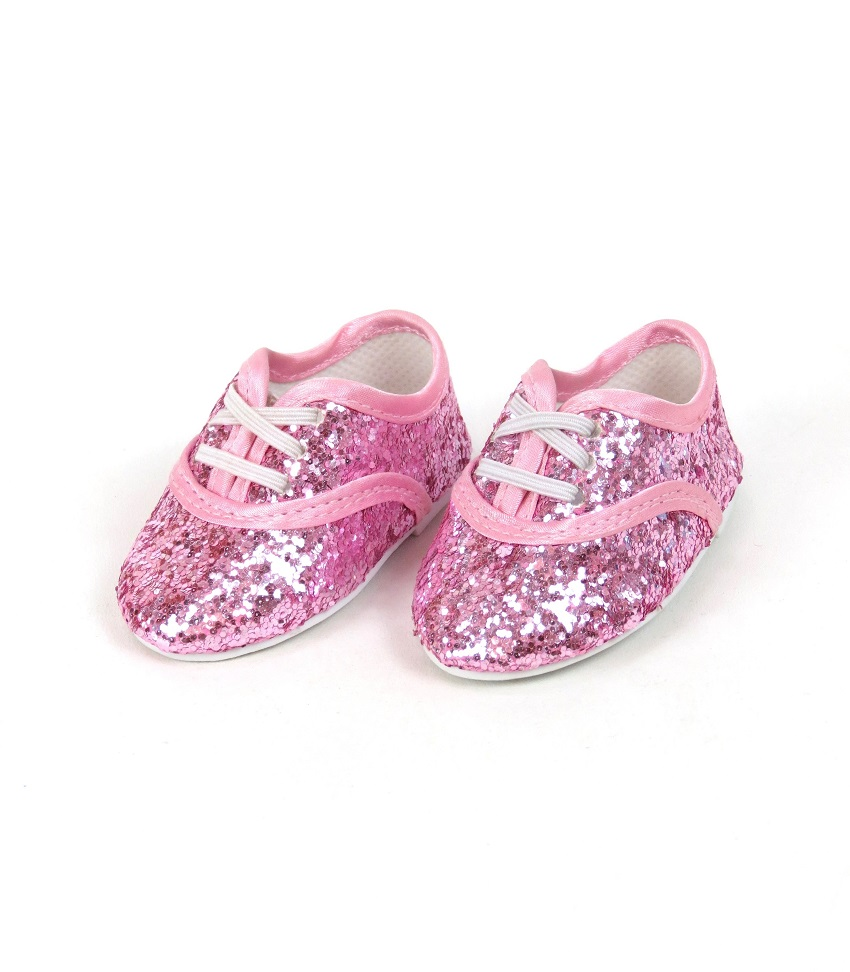 2f654048cd231 18 Inch Doll Pink Glitter Dance Shoes