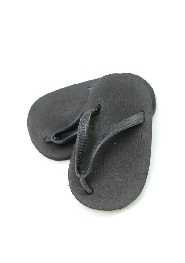 18 Inch Doll Black Flip Flops