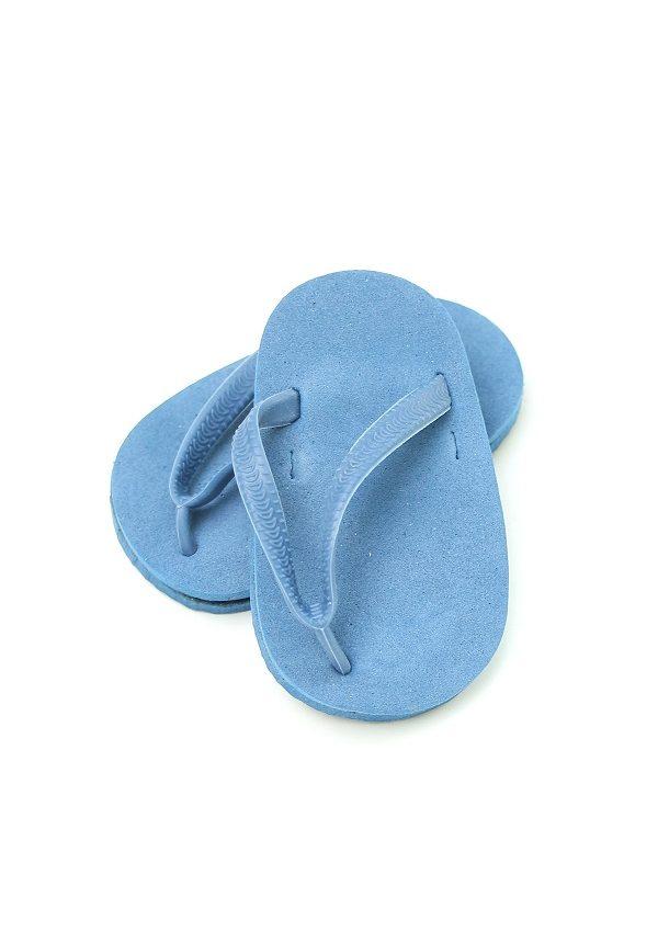 18 Inch Doll Blue Flip Flops