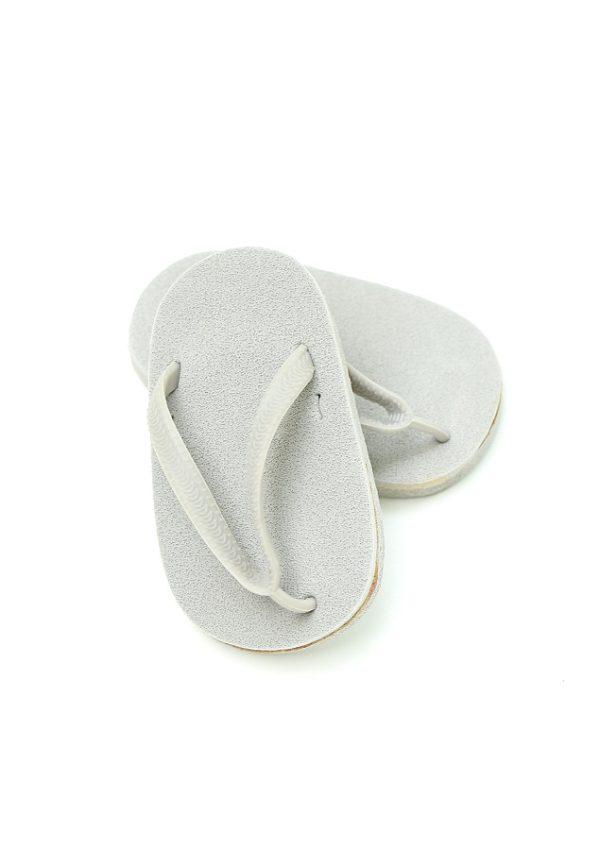 18 Inch Doll Gray Flip Flops
