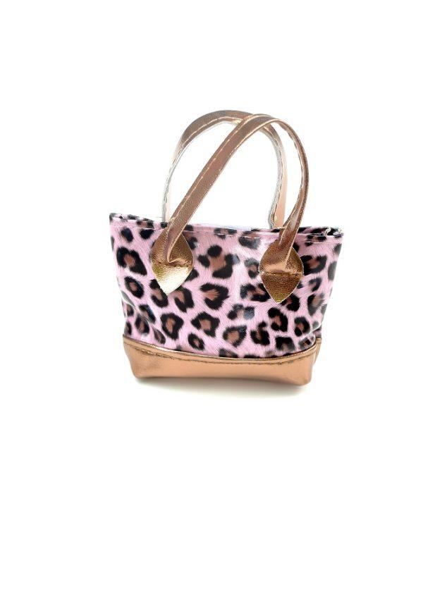 18 Inch Doll Pink Leopard Purse