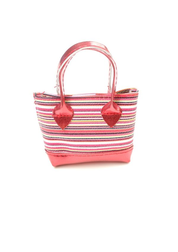 18 Inch Doll Red Striped Purse