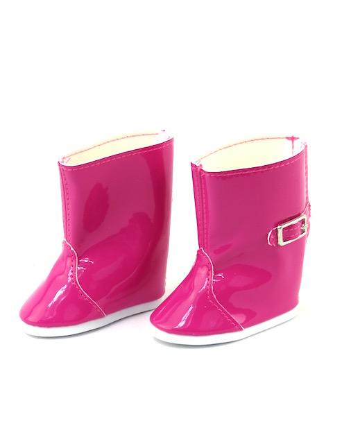 18 Doll Hot Pink Rain Boots