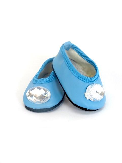 18 Inch Doll Blue Diamond Flats Shoes