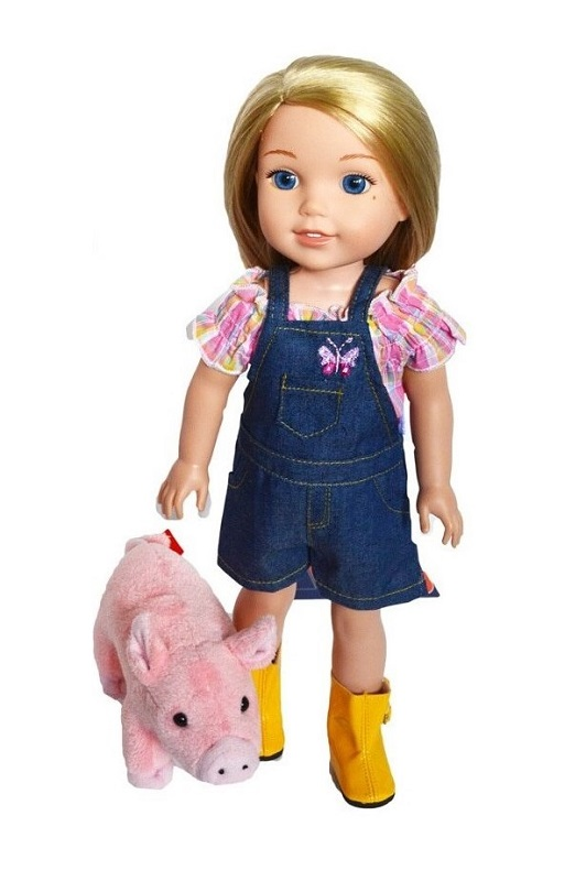 Piggy Slippers for Wellie Wisher Dolls