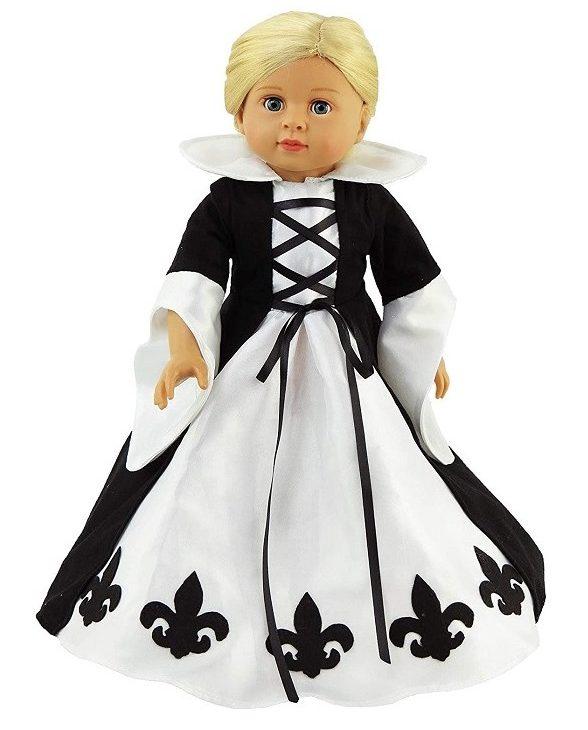 18 Inch Doll French Queen Fleur De Lis Gown 1