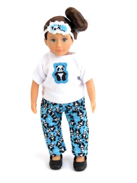American Girl Mini Doll Panda Pjs Sleep Mask