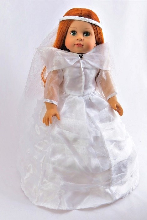 18 Inch Doll Communion Dress With Veil
