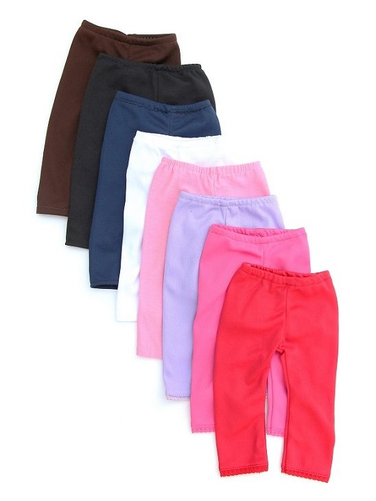 18 Inch Doll Solid Colored Leggings