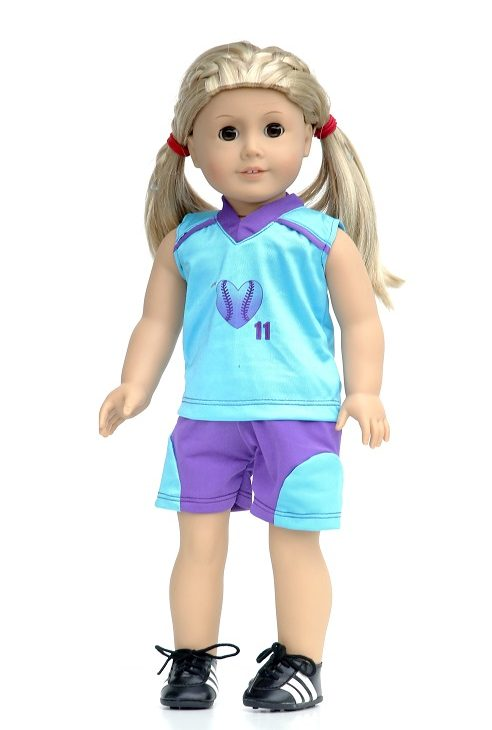 18 Inch Doll Tank Shorts Softball Outfit