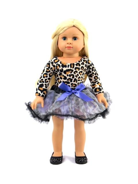 18 Doll Leopard Leotard Dance Outfit