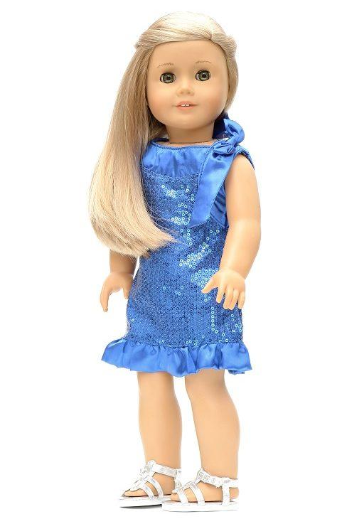 18 Doll Royal Blue Sequin Dress Up