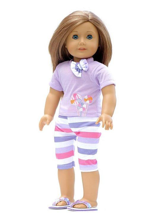 18 Doll Striped Capris Lollipop T Shirt