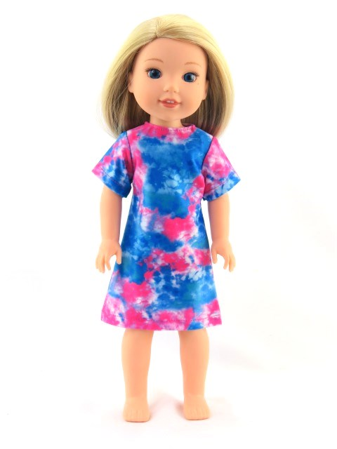 14.5 Wellie Wisher Doll Tie Dye Dress