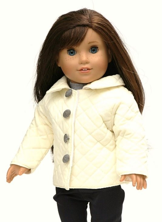 18 Doll Ivory Quilted Jacket 2