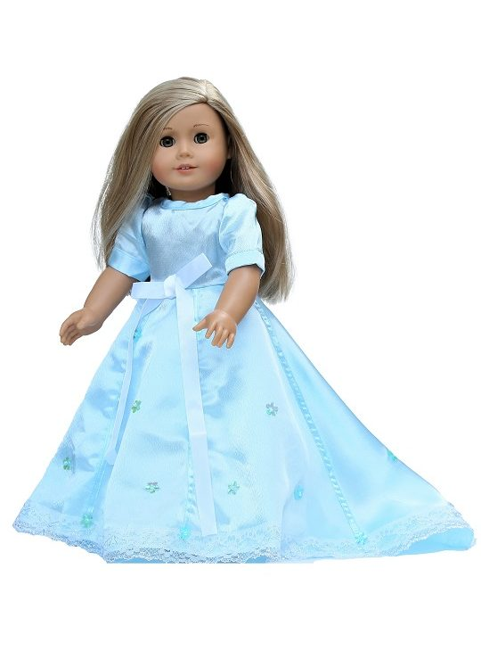 18 Doll Pale Blue Ball Gown Petticoat 1
