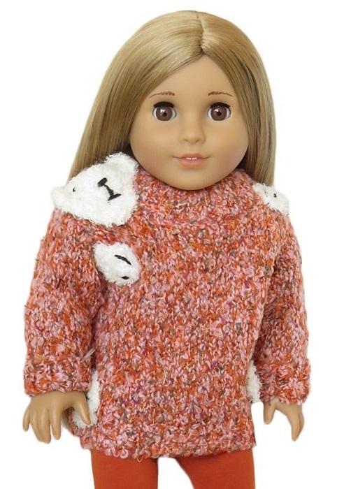 18 Doll Pumpkin Spice Bear Hug Sweater